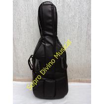 Capa Case Master Luxo Couro Pelucia Para Violoncelo 4/4