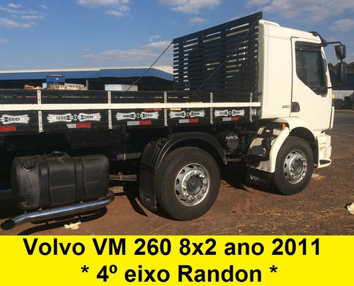 VOLVO VM 260 4 EIXO 8X2 BITRUCK + CARROCERIA 270 24250 2428