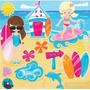 Kit Scrapbook Digital Praia Surf Hawaii Imagens Cod 12