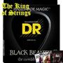 Encordoamento Baixo De 4 Cordas Dr Black Beauties .45