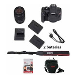 Canon Rebel T7 C/ 18-55mm +32gb + Bolsa + Bateria+nota