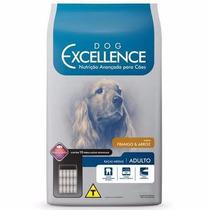 Ração Dog Excellence Cães Adultos Rç Méd Frango Arroz 15kg