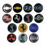 Kit 04 Emblema Roda 48mm Resinado Gm Kia Ferrari Bmw Hyundai Original