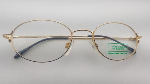 8c0b07c5e Óculos Grau #vintag Oval, Mola Hastes, Benetton F1 Ev-3401ov
