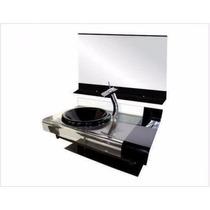 Gabinete / Armário Banheiro De Vidro Estilo Chopin 70 Cm