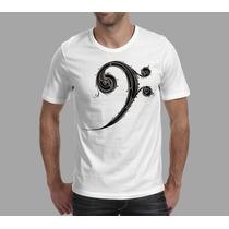 Camiseta Musica Instrumentos Musicais Clave Fá Frete Grátis
