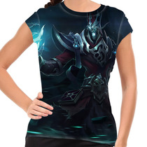 Camiseta League Of Legends Karthus Voz Mortal Baby Look