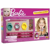 Relógio Barbie Com Troca Pulseira De Elástico Fun 7745-0