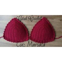 Biquíni Crochê Crochet Top Com Bojo Pronta Entrega