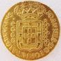 Moeda De Ouro 4000 Reis 1808 8 G Bahia Coleção Objeto Antigo