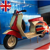 Moto Inglaterra Artesanal Miniatura Antiga Retro Vintage
