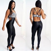 Macacão Fitness Roupa Feminina Longo Lindo Verão Decotado