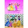 Kit Display Princesas 8 Peças + Painel 2,00x1,40m