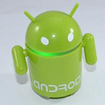 Caixa Som Portátil Android Robô Pen Drive Usb Mp3/mp4/fm