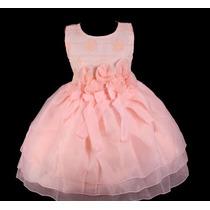 Vestido Infantil Festa/princesa/dama/florista Bordado Pesseg