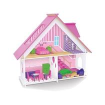 Casinha De Boneca Sweet Home Mobiliada Em Madeira Junges 410