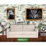 Papel De Parede Dolar Atrai Dinheiro 2.00x2.00mt 4m² Compre