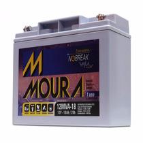 Bateria Moura Estacionária 12v 18ah Vrla Para Nobreak