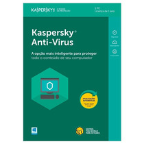 Kaspersky Anti-virus 2018 - 1 Pc 1 Ano Entrega Imediata