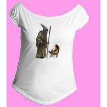 Camiseta Feminina Gola Senhor Sr Anel Aneis Hobbit 03