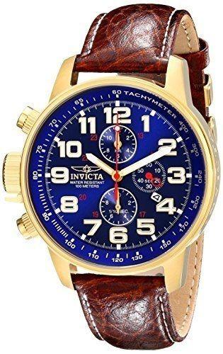 ad6afb16f1b Relógio Invicta I Force 3329 Couro Banhado Ouro Original - R  1198 ...
