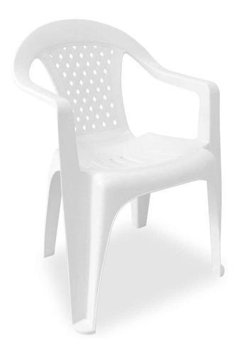 Cadeira Plástica Com Braço Branca Dolfin