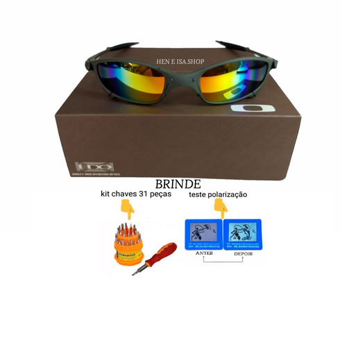 3ec32ed96e3a3 Oculos Oakley Juliet Arco-íris + Certificado+teste+chaves - R  95 en ...
