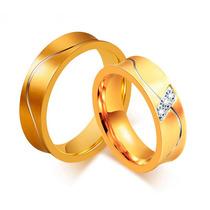 Alianças Para Casamento Noivado Dourada Banhada Ouro Bodas