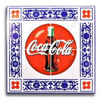 Quadro Modelo Azulejo - Coca-cola - 30x30 - Madeira Mdf 6mm