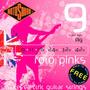 Jogo De Cordas P/ Guitarra Elétrica R9 Roto Pinks Rotosound