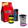 Testosterona C/ Metildrol + Whey + Bcaa + Shaker - Baunilha