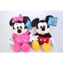 Casal Mickey E Minnie Rosa Pelúcia