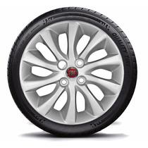 Jogo Calota Aro 15 Fiat Punto 2014 - C/emblema Fiat 4peças