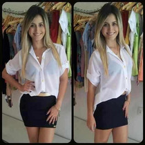 Camisa De Musseline, Chiffon ,transparente, Mullet