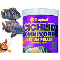Raçao Tropical Cichlid Omnivore Medium Pellet 180g