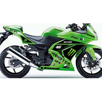 Moto Kawasaki Ninja 250 R 250r Adesivo Monster Somente Hoje