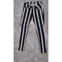 Calça Jeans Listrada Blue Steel 34 Cintura 76 - Usada