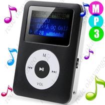Mini Mp3 Player Shuffle Clip Com Fm + Cabo Usb + Fone Ouvido