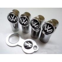 Tampa Bico De Válvula Do Pneu Cromado Volkswagen Anti Furto