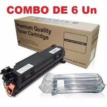 Kit C/ 6 Toner Compativel 285a P1102w M1132 M1212
