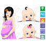 Gravidas Bebê Baby Gravida Vetor Imagens Sublimação Estampa