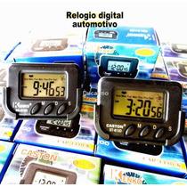 Relógio Digital Automotivo Para Carro Com Fixador P/ Painel
