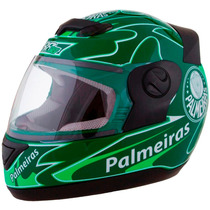 Capacete Moto Palmeiras Pro Tork Evolution 788 3g Oficial