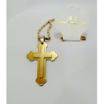 Colar Masculino Crucifixo Dourado Ouro Envio Imediato Barato