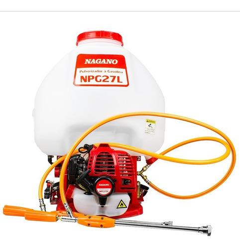 Pulverizador Costal A Gasolina 25.6cc 27 Litros 2 Lanças