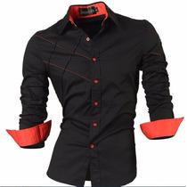 Camisa Social Slim Fit Np56 Estilo Boutique Ocidental.