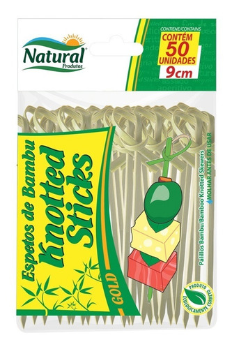 Espeto Knotted Stick 9cm Bambu (nó) Cx C/ 25x50 Unid