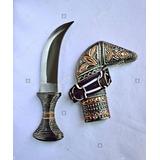 Faca Punhal Árabe Omani 10 Dirham Aço Inox Decorativa C/ Nfe