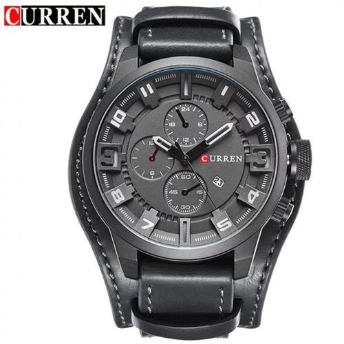 0abacb81e86 Relógio Curren 8225 Couro Original Moda 2019 C  Garantia