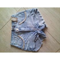 Short Hot Pants Atacado 6 Peças, Com Detalhes Perolados